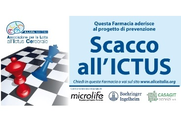 Scacco all'Ictus in 2.000 farmacie amiche di Alice
